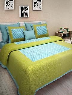 JAIPUR PRINTS Cotton 300 TC Bedsheet (King_Multicolour)