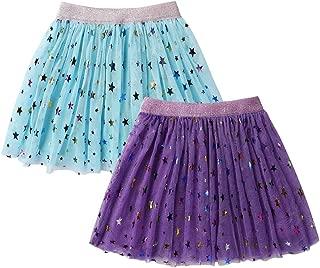 DaniChins Girl's Layered Tutu Skirt Tulle Princess Sparkle Skirt for Little Girl