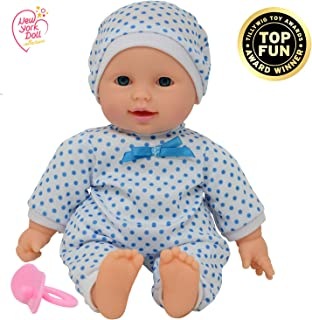 11 inch Soft Body Boy Baby Doll in Gift Box - Doll Pacifier Included -Toy Dolls for Boys and Toddlers