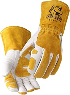 Revco GM1611 Top Grain Leather Cowhide MIG Welding Gloves with Reinforced Palm & Thumb & Index Finger, Seamless Forefinger, 5