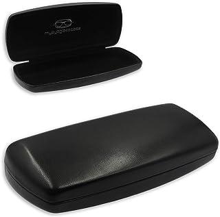 MyEyeglassCase Hard eyeglass case w/cleaning cloth | medium size for men, women