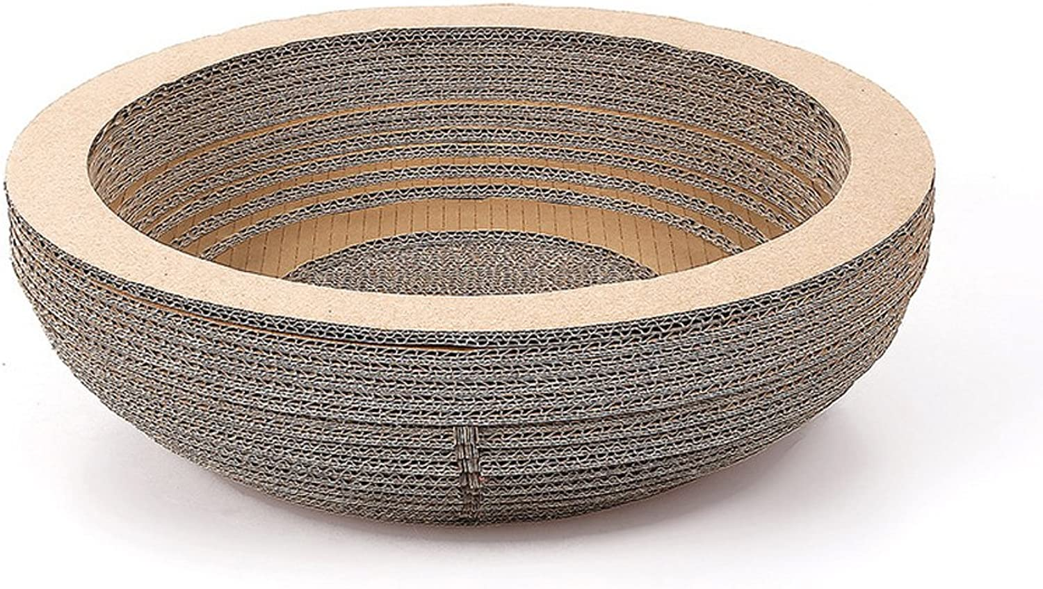 Pethouzz Corrugated Cat Nest Cat Scratcher Lounge Grinding Claws Plate (Bowl Shape)