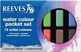 Reeves Watercolor Paint Cakes 12/Pkg-Assorted Colors
