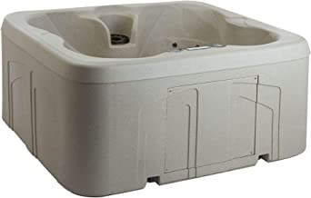 Lifesmart Rock Solid Simplicity Plug and Play 4 Person Hot Tub Spa With 13 Jets