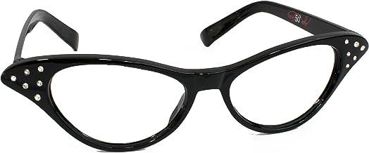 Hip Hop 50s Shop Kids Cat Eye Glasses (Child/Youth, Black)