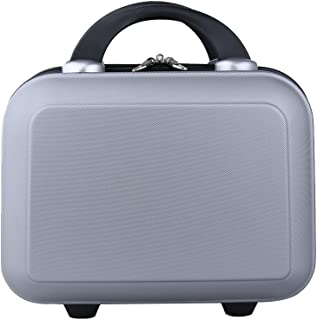 Genda 2Archer Small Cosmetic Suitcase Abs Hard Shell Luggage Vanity Case 14Inch Silver