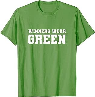 Winners Wear Green Team Spirit Game Competition Color War T-Shirt