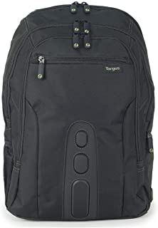 Targus Spruce EcoSmart Travel and TSA Checkpoint-Friendly Backpack, Business Professional/College Student Commuter, Removable Padded Slipcase for 15.6-Inch Laptop, Black (TBB013US)