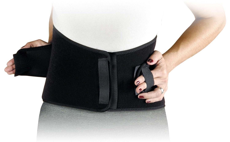 Lei Back Brace Regular Size Supportive Black Back Brace