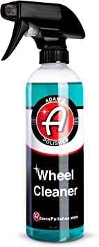 Adam's Wheel Cleaner 16oz - Tough Wheel Cleaning Spray for Car Wash Detailing   Rim Cleaner & Brake Dust Remover   Safe On Chrome Clear Coated & Plasti Dipped Wheels   Use w/Wheel Brush: image