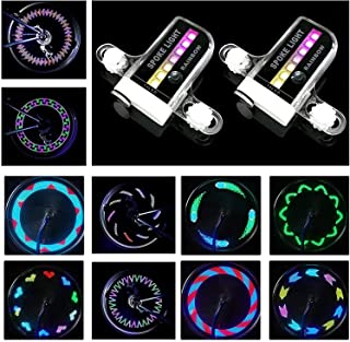 Bike Wheel Lights - Waterproof LED Bicycle Spoke Lights Safety Tire Lights - Great Kids Adults - 30 Different Patterns Cha...
