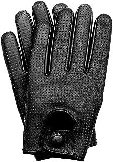 Riparo Motorsports Men's Genuine Leather Driving Gloves Large Black