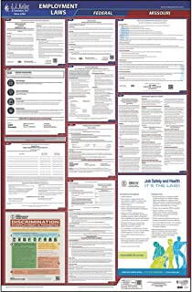 2019 Missouri Labor Law Poster, All-in-One OSHA Compliant MO State & Federal Laminated Poster (26