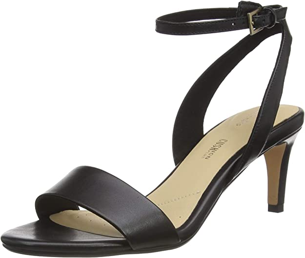 Clarks Amali Jewel, Zapatos con Tacon y Correa de Tobillo Mujer