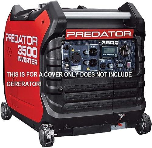 GCD Fits The Predator 3500 watt Generator Cover Custom Fit (Black) in Stock