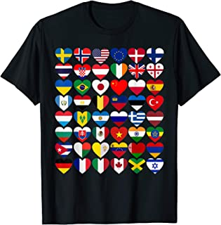 Flags of the Countries of the World,International Gift T-Shirt