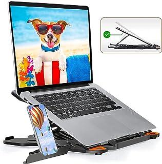 Portable Laptop Stand, Adjustable Laptop Computer Stand Multi-Angle Stand Phone Stand Portable Foldable Laptop Riser Noteb...
