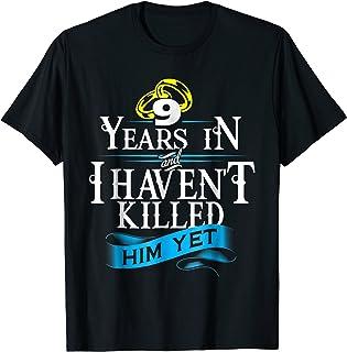9 Years Anniversary Gift Idea for Her/Him Tshirt 9th Wedding