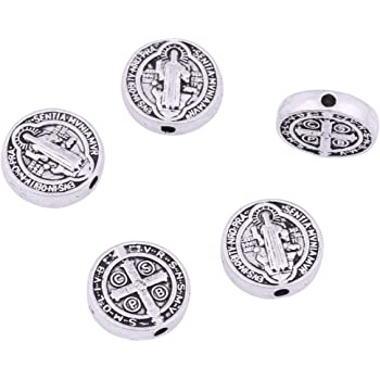 DIY Jewelry Making Charms Jesus Loose Rosary Spacer Beads Wholesale  Alloy