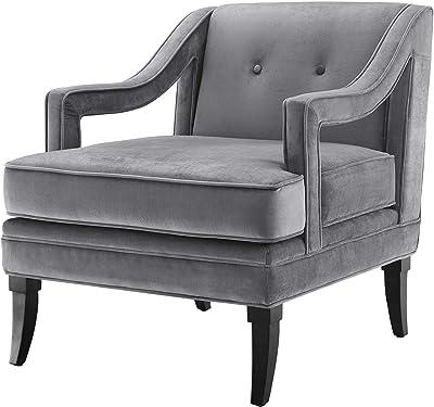 Amazon Com Uttermost Kimalina Linen Accent Chair Brown