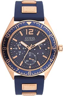 GUESS Mens Quartz Watch, Analog Display and Silicone Strap - W1167G3
