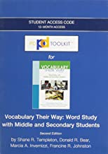 PDToolKit -- Standalone Access Card -- for Words Their Way: Vocabulary for Middle and Secondary Students (Words Their Way Series)