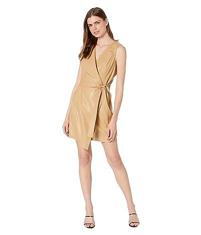 BCBGMAXAZRIA Napa Pleather Wrap Dress