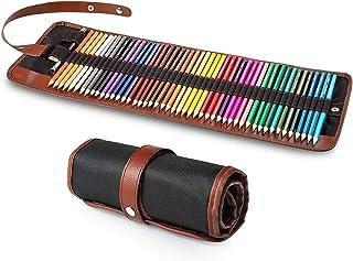 مداد رنگی Yordawn برای کتاب های رنگ آمیزی ، 48 مداد رنگی مجموعه نقاشی رنگی لوازم هنری با رول بوم مورد مخصوص کودکان بزرگسال هنرمند