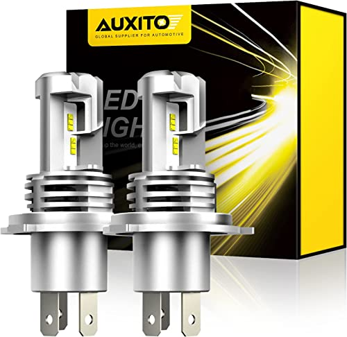 AUXITO H4 9003 LED Headlight Bulbs, 12000LM Per Set 6500K Xenon White for High and Low Beam Hi/Lo Plug and Play, Pack...