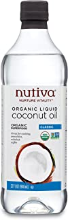 Nutiva Organic, Unrefined, Liquid Coconut Oil, 32-ounce