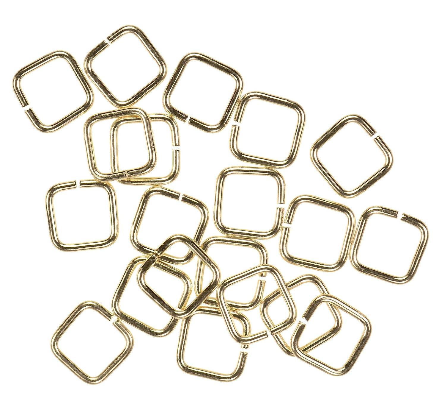 uGems 20 14K Gold Filled Jump Ring Square 20ga 6mm