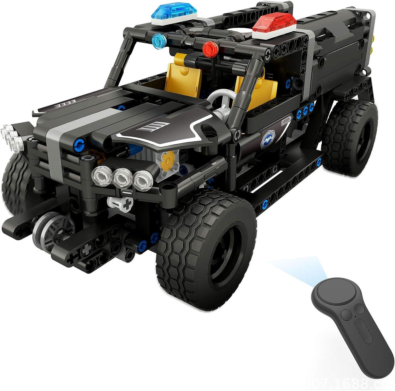 Remote Control Toy For Kids  Building Block 431PCS RC Car Rechargeable Remote Control Dump Truck Building Blocks Kits DIY Toys