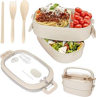 Sinwind Lunch Box, Bento Box Boite Bento, Boîte à Repas, Sécurité Anti-Fuite Écologique Hermétique Boîte à Repas pour Micr...