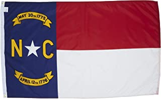 Allied Flag - 4' x 6' Outdoor Nylon North Carolina State Flag - Made in USA - Vivid Color and Fade Resistant - Reinforced Hem and Brass Grommets