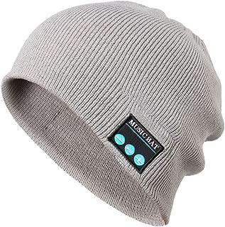 Red Ta Fashion Unisex Autumn Winter Bluetooth Wireless Warm Beanie Hat Handsfree Music Cap Headphone Headset xmas