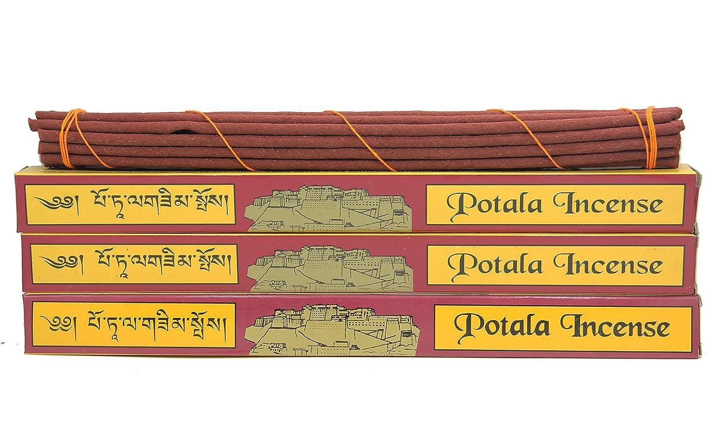 補助兄弟愛ヒロイックDharmaObjects 3ボックス元チベット従来Potala Incense Large 60 Sticks レッド 14139981