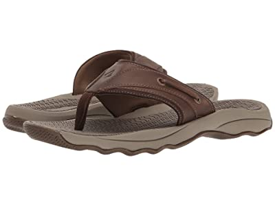 Sperry Outer Banks Thong Sandal (Brown) Men