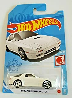 DieCast Hotwheels '89 Mazda Savanna RX 7 FC3S, HW J-Imports 5/10 (White) 176/250