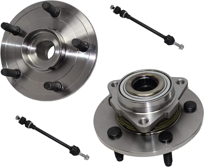 Detroit Axle - 4x4 Front Wheel Bearing Assembly + Bar Hub アウトレット Sway 新登場