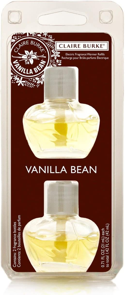 Claire Burke Scented Oil Refill Plug in 1ct, Vanilla Bean Air Freshener for Home and Bathroom