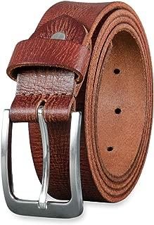 Donna Uomo Cintura Con Retro Pelle Marrone 3,7 cm di larghezza ACCORCIABILE Cintura Jeans
