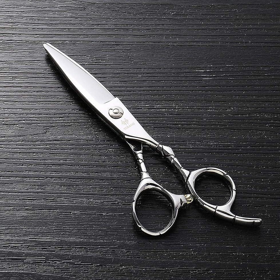 短くする読書入場6インチのステンレス鋼のランセットの脂肪質の平らなせん断、美容院の専門の上限の理髪はさみ モデリングツール (色 : Silver)