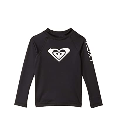Roxy Kids Whole Hearted Long Sleeve Rashguard (Toddler/Little Kids/Big Kids) (Anthracite) Girl