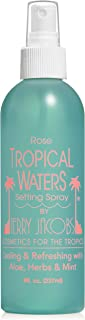 Tropical Waters Rose Water Make Up Setting Spray, Cooling Spray and Facial Mist, Long Lasting, Hydrating, Face Mist, Cosmetic Finishing Spray (Rose) 8oz