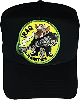HnP Iraq A-10 Warthog Round Patch Hat - Black - Veteran Owned Business