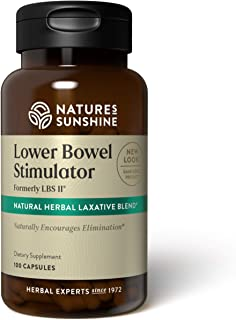 Nature's Sunshine LBS II, 100 Capsules, Kosher | Herbal Laxative with Cascara Sagrada Bark Supports the Digestive System a...