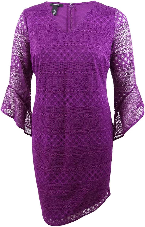Alfani BellSleeve Lace Shift Dress