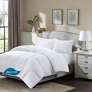 Sleep Philosophy Northfield Supreme Down Dacron Fiber Blend Comforter with 3M Stain Release Feature, Full/Queen, White