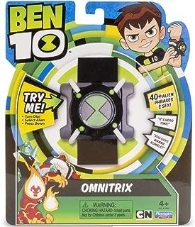 Ben 10- Basic Omnitrix Reloj con luz y Sonido, Color Negro/Verde/Gris/Blanco, Miscelanea (Giochi Preziosi Spagna BEN04000)