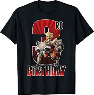 Marvel Rocket and Baby Groot 3rd Birthday T-Shirt